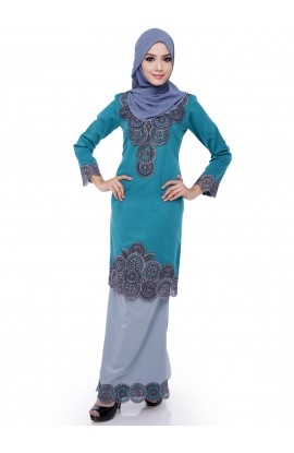 ADIRA BLOCK 59 - Blue Turquoise, Grey