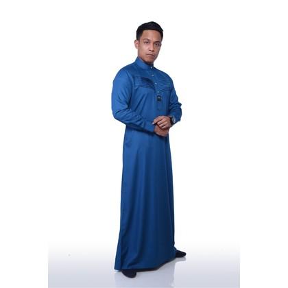 JUBAH LELAKI - QHALEES 06 (SNORKEL BLUE)