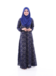 NADHIRAH 01 - BLUE BLACK
