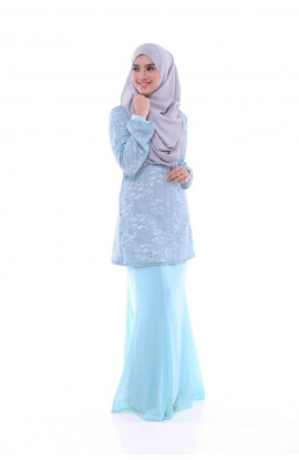 NADHIRAH 05 - LIGHT TIFFANY BLUE
