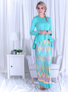 AMANI 03 - GREEN TURQUOISE (YELLOW, PURPLE)
