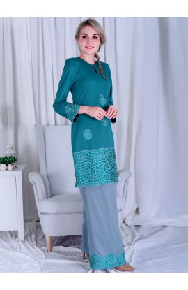FISHA 14 - LIGHT TEAL GREEN / SILVER GREY